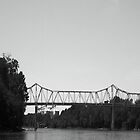 Country River Bridge in Monochrome by CanoeComsArt
