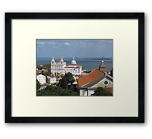 Lisbon Panoramic view toward The Vasco da Gama Bridge Framed Print