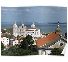 Lisbon Panoramic view toward The Vasco da Gama Bridge Poster