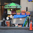 New York Street Vendor by Frank Romeo