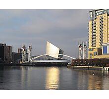 Manchester Millennium Lifting Footbridge Photographic Print