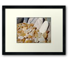 AGATES Rocks Art Prints Beach Coast Agate Framed Print