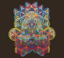Vipassana - 2012 - Buddha on chair as Tshirt by karmym
