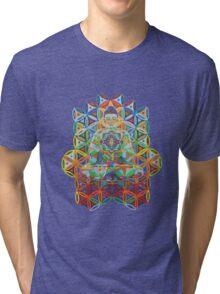 Vipassana - 2012 - Buddha on chair as Tshirt Tri-blend T-Shirt