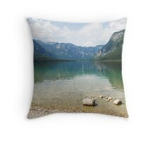 Lake Bohinj Shore, Slovenia Throw Pillow