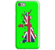 Smartphone Case - Cool Britannia - Bright Green Background iPhone Case/Skin