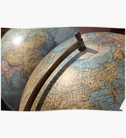 Vintage Globes Poster