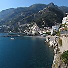 View of Amalfi coast by kirilart
