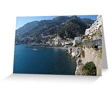 View of Amalfi coast Greeting Card