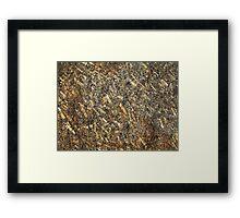 Sparkling Quartz Mineral Texture Framed Print