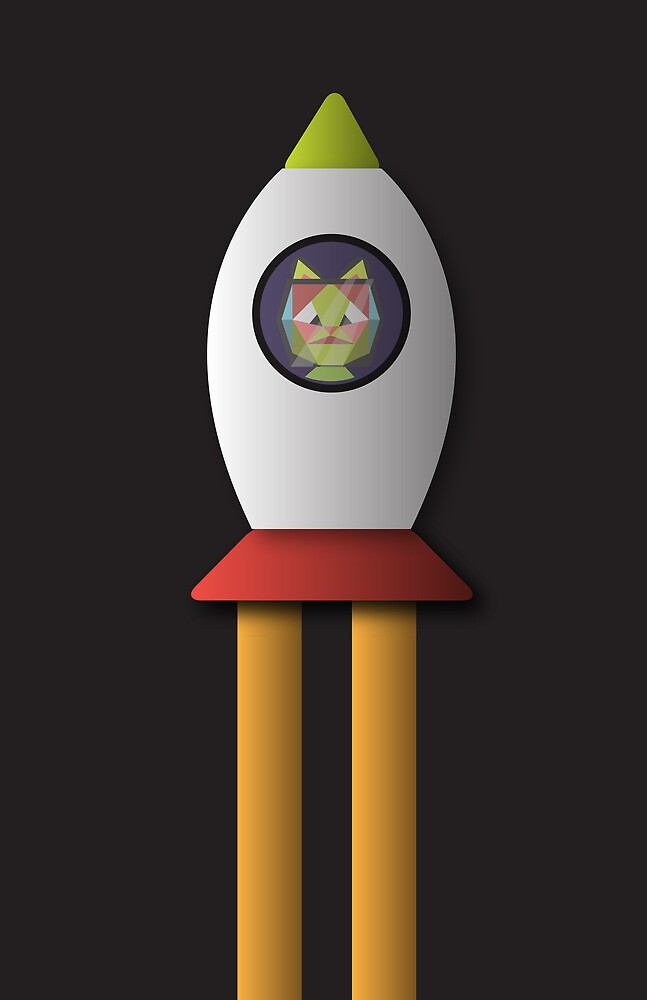 this is a cat in space. by Alii Marie