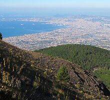 Naples Bay View from Mount Vesuvius by kirilart