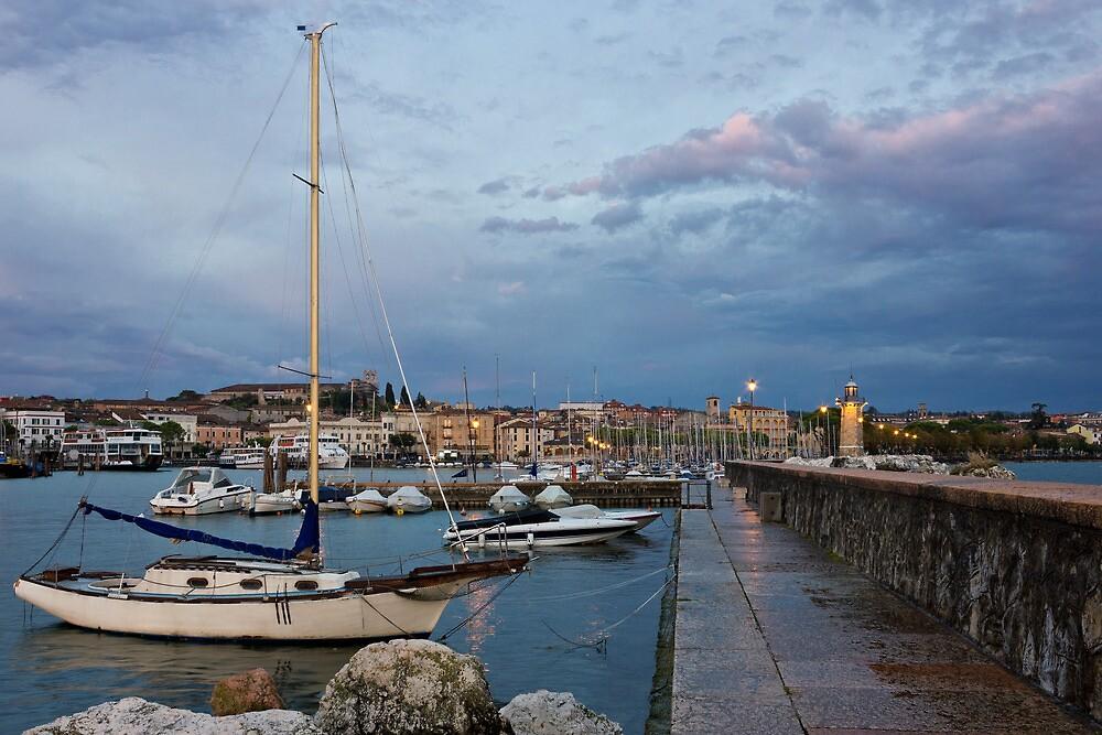 Desenzano del Garda view toward marina and city by kirilart