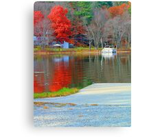 Fall Colors on the Water Canvas Print