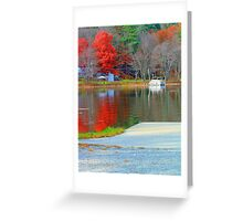 Fall Colors on the Water Greeting Card
