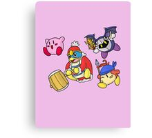 Kirby - Star Squad! Canvas Print