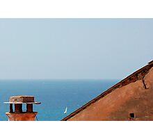 Roof Overlooking Sea Photographic Print