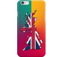 Smartphone Case - Cool Britannia - Yellow Magenta Teal Background iPhone Case/Skin