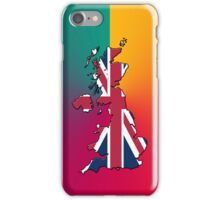 Smartphone Case - Cool Britannia - Yellow Magenta Teal Background iPhone Case/Skin