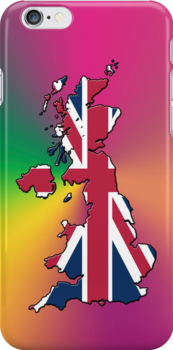 Smartphone Case - Cool Britannia - Yellow Green Magenta Background by Mark Podger