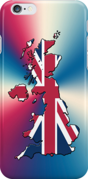 Smartphone Case - Cool Britannia - Red White Blue Background by Mark Podger