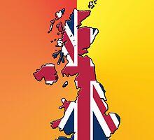 Smartphone Case - Cool Britannia - Orange Yellow Background by Mark Podger