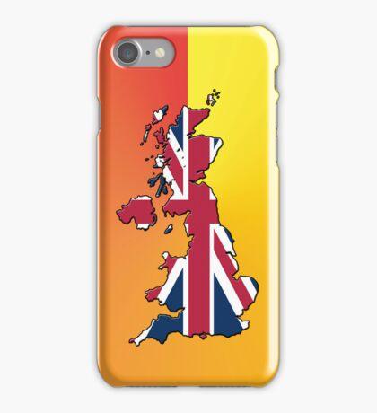 Smartphone Case - Cool Britannia - Orange Yellow Background iPhone Case/Skin