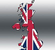 Smartphone Case - Cool Britannia - Silver Background by Mark Podger