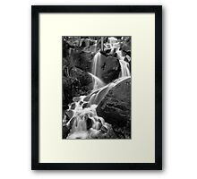 Waterfall Upper Yosemite National Park Framed Print