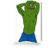 Pepe The Frog Meme  Greeting Card