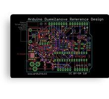 Arduino Duemilanove Reference Design - black Canvas Print