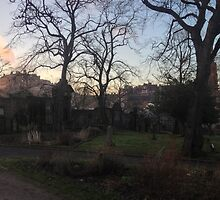 Castle and Graveyard by Talia Felix