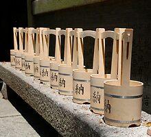Water Buckets Outside Shrine by jojobob