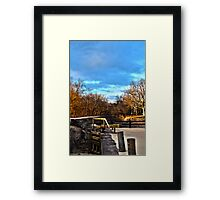 Looking down the Canal Framed Print