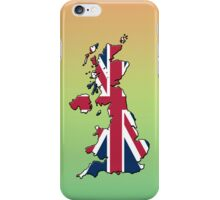 Smartphone Case - Cool Britannia - Green Yellow Orange Background iPhone Case/Skin