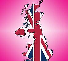 Smartphone Case - Cool Britannia - Magenta Diamond Background by Mark Podger