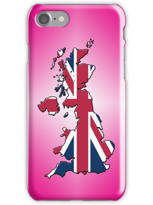 Smartphone Case - Cool Britannia - Magenta Diamond Background by Mark Podger