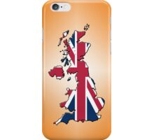 Smartphone Case - Cool Britannia - Orange Diamond Background iPhone Case/Skin
