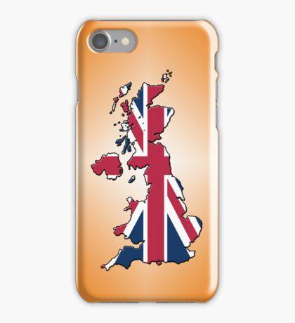 Smartphone Case - Cool Britannia - Orange Diamond Background iPhone Case/Skin