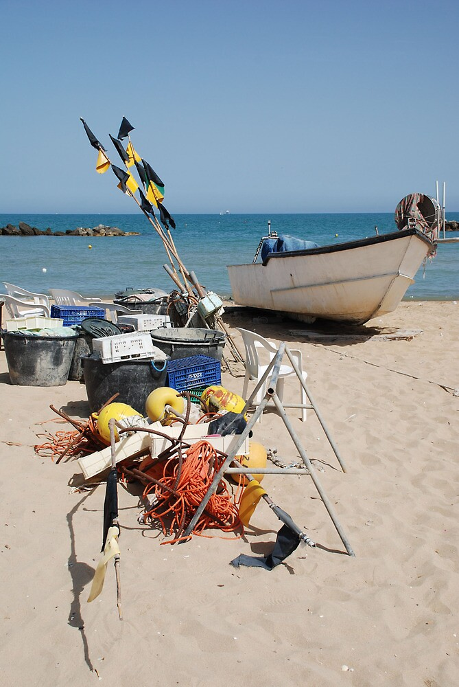 Fishing Boat and Equipment by jojobob