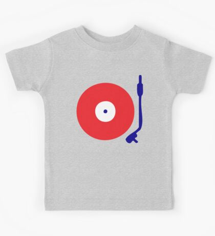 Red White Blue Turntable Kids Tee
