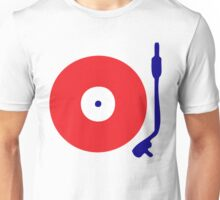 Red White Blue Turntable Unisex T-Shirt