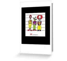 Clown Lineup Greeting Card