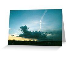 sea clouds Greeting Card