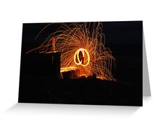 wire wool poi aberafan beach front,  cool3water@ gums, andrew waters.  Greeting Card