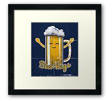 Beer Hugs Framed Print