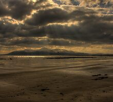 The Mourne Mountains under snow from Minnerstown by Jon Lees