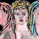 Artemis, Aphrodite & Athena by Anthea  Slade