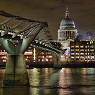 The Millenium Bridge and St Pauls by Colin J Williams Photography