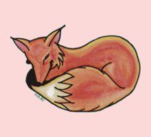 Big Fox Sleeping Kids Tee